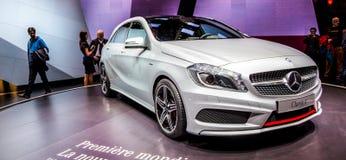 Genève Motorshow 2012 - de Nieuwe klasse van Mercedes A Stock Fotografie