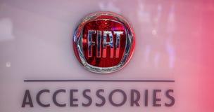 Genève Motorshow 2012 - het Embleem van de Toebehoren van Fiat Stock Afbeeldingen