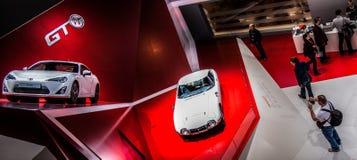 Genève Motorshow 2012 - Toyota 2000 GT en GT 86 Royalty-vrije Stock Fotografie