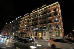 Genève par Night switzerland Image libre de droits