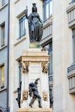 GENÈVE SCHWEIZ - Oktober 26, 2017: Springbrunnen kallade Escalade Arkivbild