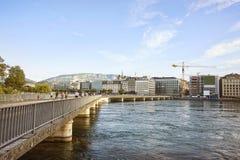 Genève sjöinvallning i sommar Royaltyfri Fotografi