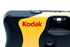 Genève/Zwitserland-09 08 18: Beschikbare camera 35mm van Kodak royalty-vrije stock foto's