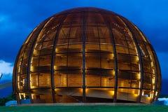 GENÈVE, ZWITSERLAND - JUNI 8, 2016: The Globe van Wetenschap & Innov Royalty-vrije Stock Fotografie