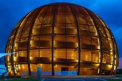 GENÈVE, ZWITSERLAND - JUNI 8, 2016: The Globe van Wetenschap & Innov Royalty-vrije Stock Foto's
