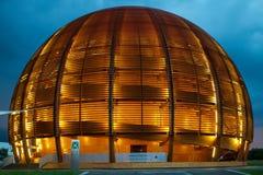 GENÈVE, ZWITSERLAND - JUNI 8, 2016: The Globe van Wetenschap & Innov Royalty-vrije Stock Afbeeldingen