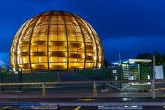 GENÈVE, ZWITSERLAND - JUNI 8, 2016: The Globe van Wetenschap & Innov Stock Foto's