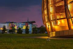 GENÈVE, ZWITSERLAND - JUNI 8, 2016: The Globe van Wetenschap & Innov Stock Foto