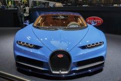 GENÈVE, ZWITSERLAND - MAART 2016: Bugatti Chiron royalty-vrije stock foto
