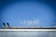GenèveCointrin flygplats Arkivbild