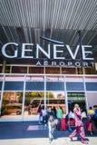 GenèveCointrin flygplats Fotografering för Bildbyråer