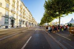 Genèvefestival 2015 (Schweiz) Royaltyfri Fotografi