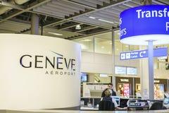 Genèveflygplatsinre Arkivbilder