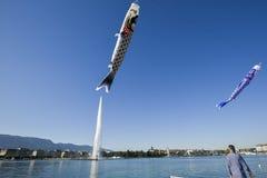 GenèveSchweiz sjö Leman Royaltyfria Foton