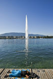 GenèveSchweiz sjö Leman Royaltyfri Bild