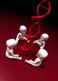 Genética e cloning ilustração royalty free