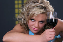 Genügend Wein stockfotografie