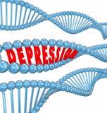 GEN ereditaria del filo del DNA di parola di malattia mentale di malattia di depressione illustrazione di stock