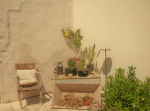 GEN grecque de Crète de patio photographie stock