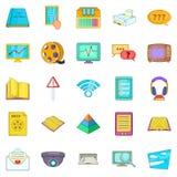 Gen icons set, cartoon style Royalty Free Stock Image