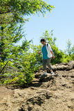 Gen X Woman On A Dayhike Royalty Free Stock Image
