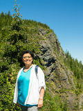 Gen X Woman On A Dayhike Royalty Free Stock Photography