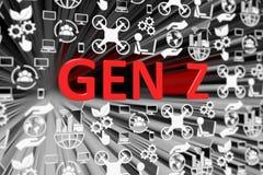GEN Z concept blurred background. 3d render illustration vector illustration