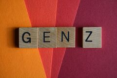 Free Gen Z, Word In 3D Wooden Alphabet Letters Isolated On Colour Background Royalty Free Stock Photos - 210428058