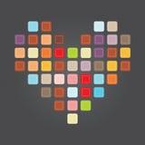 Genaaid hart royalty-vrije stock afbeeldingen