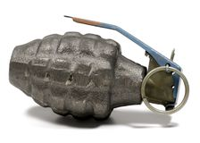 Genade. Photo of a Hand Grenade - Weapon / War Related Royalty Free Stock Photo