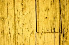 Genageltes Gelb Stockfoto