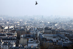 Genaral view of Paris City Royalty Free Stock Photos