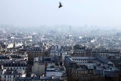 Genaral widok Paryski miasto Zdjęcia Royalty Free