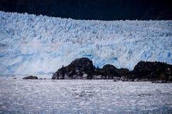 Genauer Blick zu Amalia Glacier Stockfoto