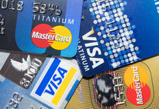 Genauere hohe Kreditkarte Stockbild