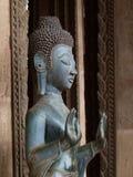 Genauerer Buddha und Hände in Laos Stockbild