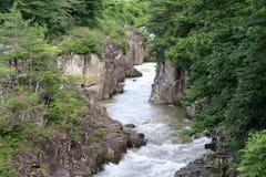 Genbi gorge. In Ichinoseki, Iwate, Japan royalty free stock image
