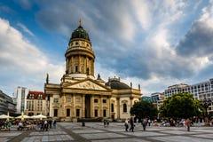 Gendarmenmarkt广场的德国大教堂在柏林,德国 库存图片