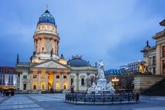 Gendarmenmarkt广场在柏林,德国 免版税库存照片