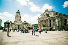 Gendarmenmarkt, Berlijn, Duitsland, stad, theater, de bouw Stock Afbeeldingen