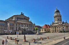 The Gendarmenmarkt in Berlin stock photos