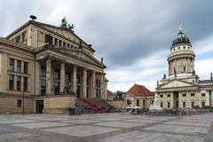 Gendarmenmarkt in Berlin, Germany. View on French Cathedral and Royalty Free Stock Photography