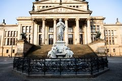 Gendarmenmarkt in Berlin, Germany. View on German Cathedral and Konzerthaus. Royalty Free Stock Photos