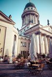 Gendarmenmarkt in Berlin, Germany. View on German Cathedral and Konzerthaus. Stock Images