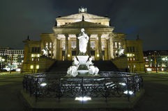 Gendarmenmarkt in berlin at night Stock Image