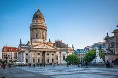 Gendarmenmarkt in Berlin. View on German Cathedral Stock Images