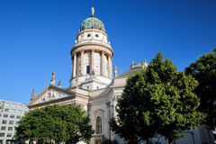The Gendarmenmarkt. French Cathedral in Berlin Stock Photos