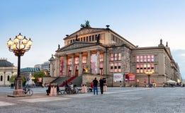 Gendarmenmarkt fyrkant i Berlin, konserthall Arkivbild