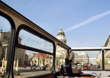 Gendarmenmarkt. View from the second floor of the bus to the square in the centre of Berlin, one of the most beautiful squares of the capital of Germany Royalty Free Stock Images