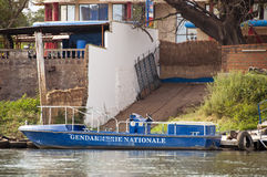 Gendarmerie boat in Bamako Stock Photo
